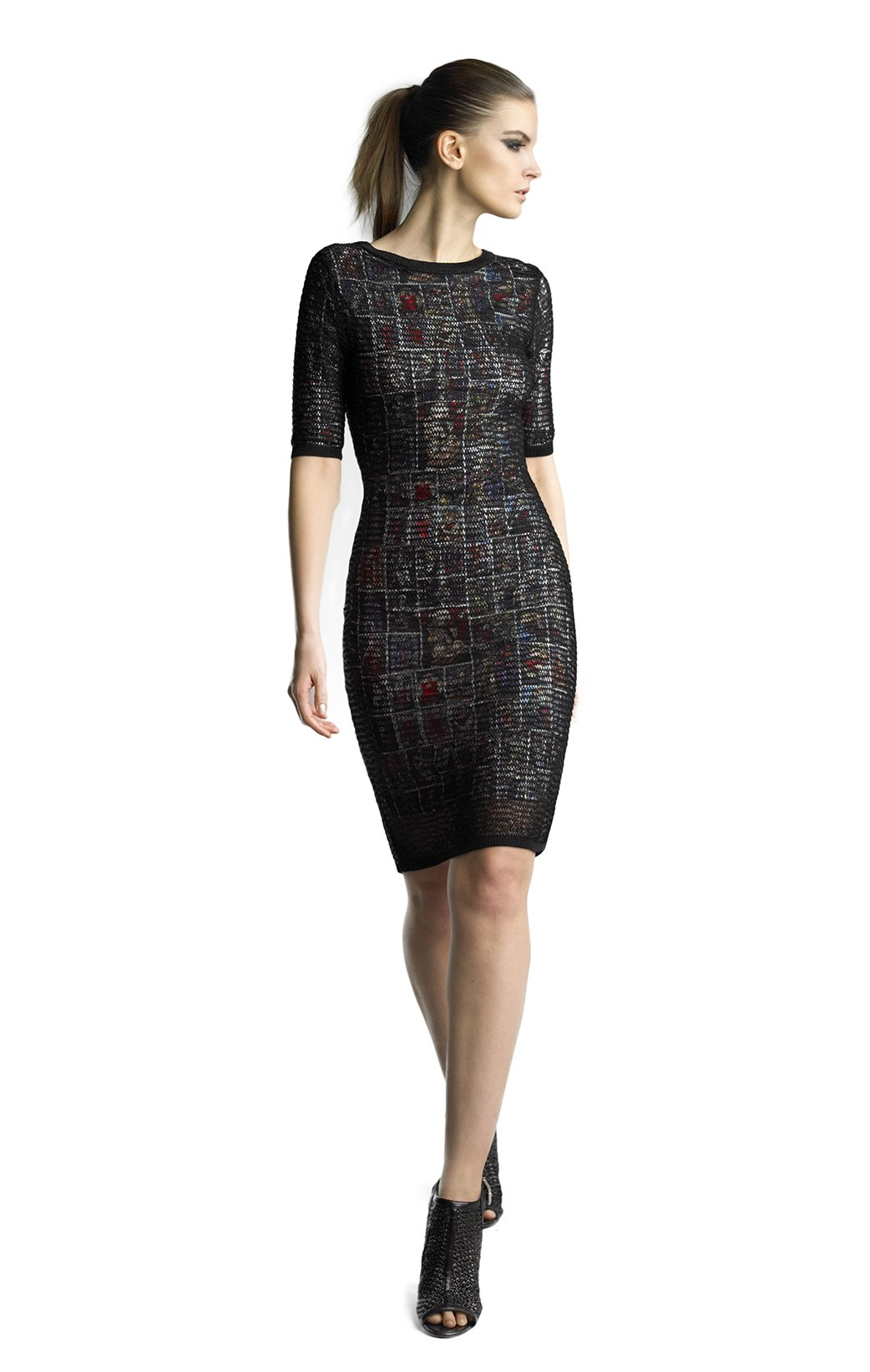 Historic New York Women's Collection of Stained Glass Dress, Black, Large