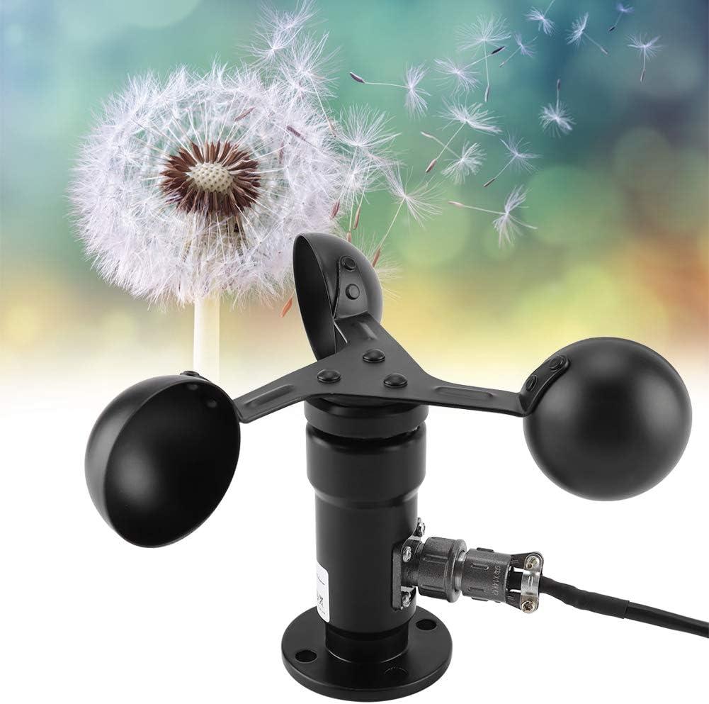 Low Consumption FAMKIT Wind Speed Sensor Pulse Signal Output Aluminum Alloyed 360 Degree Wind Speed Measurement Waterproof