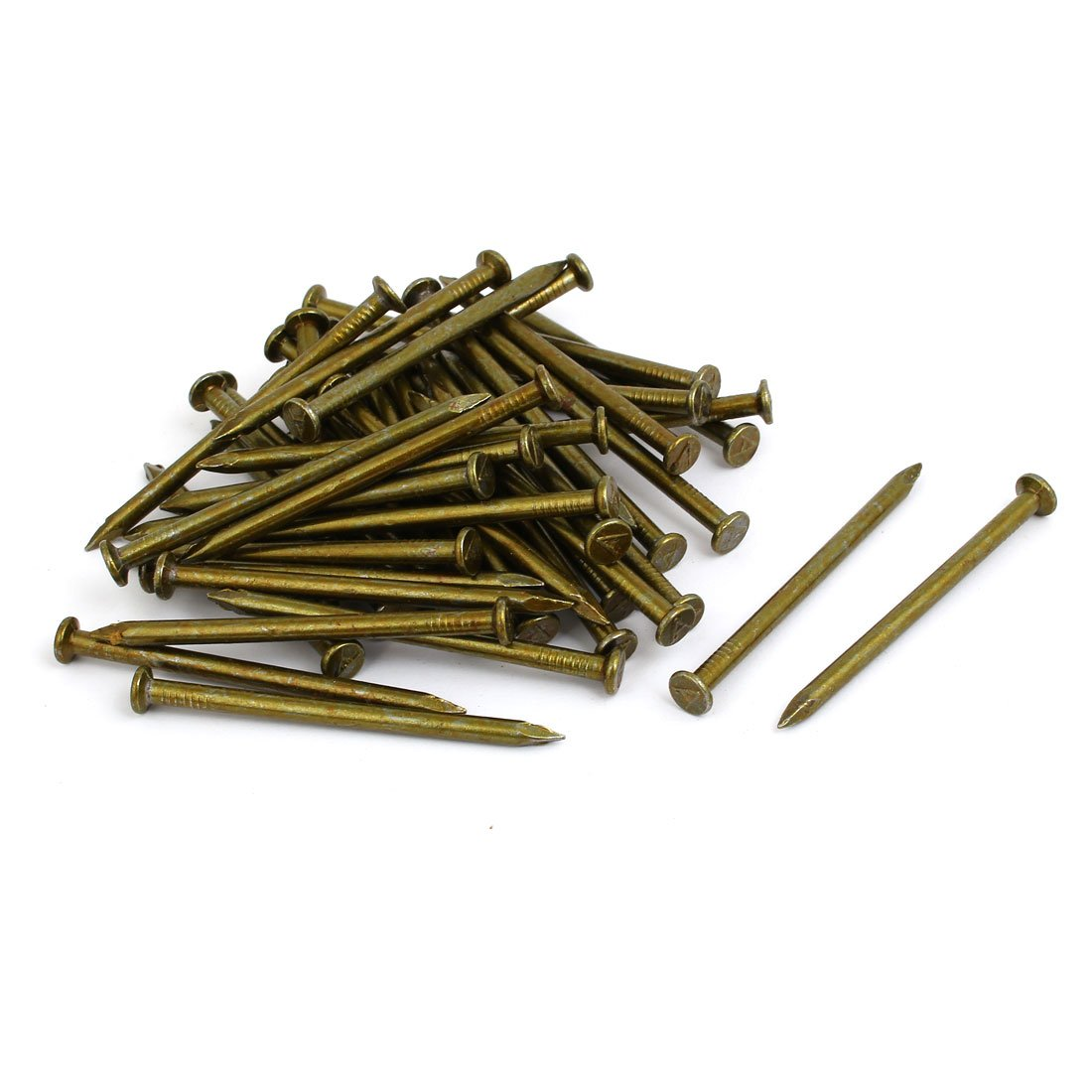 uxcell Fiber Concrete Cement Wall Steel Point Tip Wire Nails 4mmx70mm 100PCS