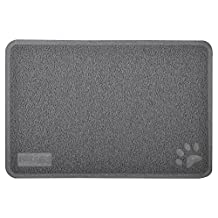 Cat Pet Litter Mat,Kitty Litter Rug,Doormat,Rectangle Shape, 23.5x15.75 Inches,2 colors available (Gray)
