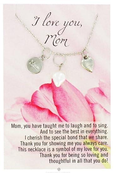 Amazoncom Zorbitz Necklace With Meaningful Poem I Love You Mom