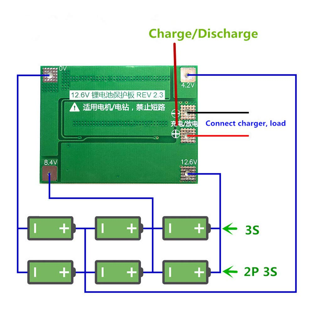 10X 3S 40A Für Schraubendreher 12 V Li-Ion 18650 Bms Pcm Batterie Schutz Pla e1j