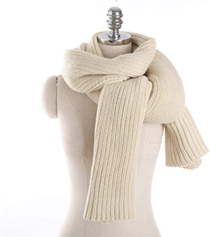 TALLA Talla única. AiNaMei Hombres y mujeres otoño e invierno parejas bufanda de punto de moda cálida pura