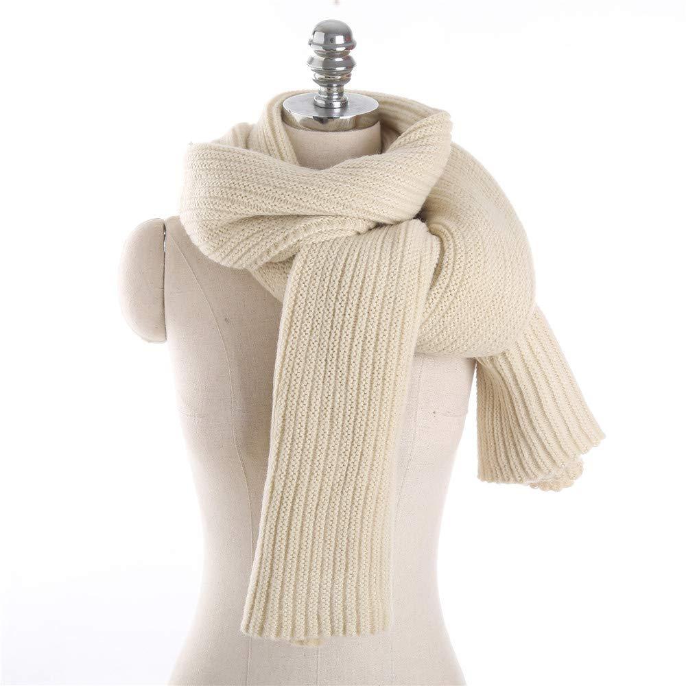 AiNaMei Hombres y mujeres otoño e invierno parejas bufanda de punto de moda cálida pura