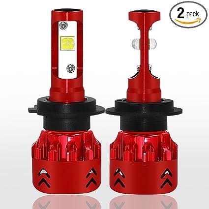 LAIMAIK LED Headlight Bulbs All-in-One Conversion Kit 60W MIni LED H7 9600Lm