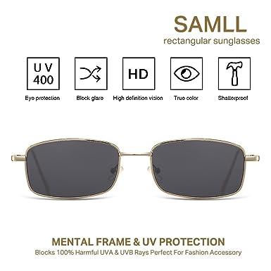Amazon.com: LOOKEYE - Gafas de sol rectangulares, pequeñas ...