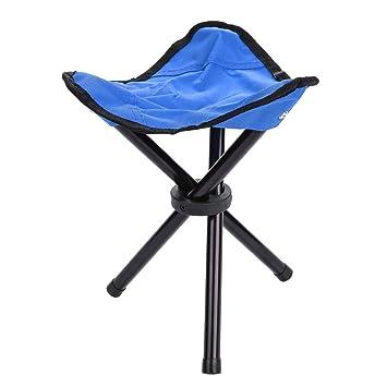 Amazon.com: dilwe trípode silla de camping plegable portátil ...
