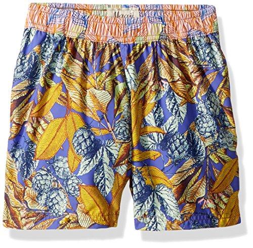 Maaji Big Print Mixed Elastic Waist Swimsuit Trunks, Boys Sporty Multi, 8-10