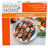 Grill It®, The Original Stove Top Grill, Smokeless Stovetop Indoor BBQ - High Quality Stainless Steel with Double Coated Non Stick Grilling Surface