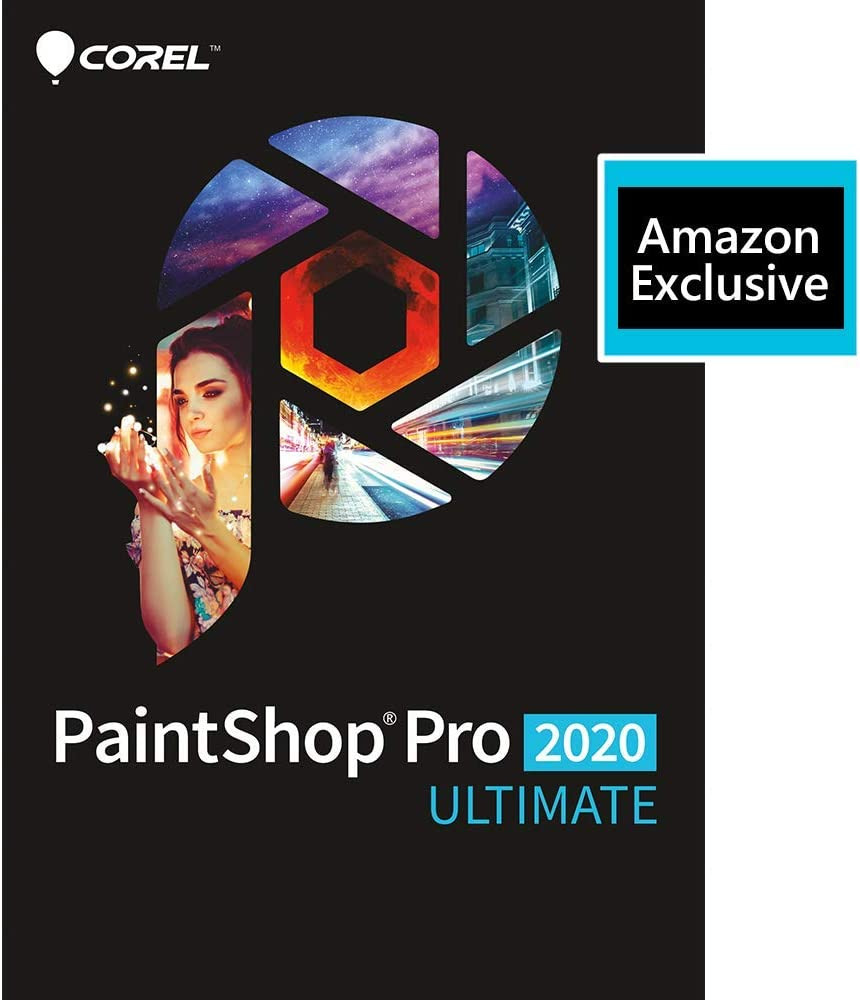 Corel | PaintShop Pro 2020 Ultimate | Photo Editing and Graphic Design | Amazon Exclusive Includes Free ParticleShop Plugin and 5-Brush Starter Pack Valued at $39 [PC Download]