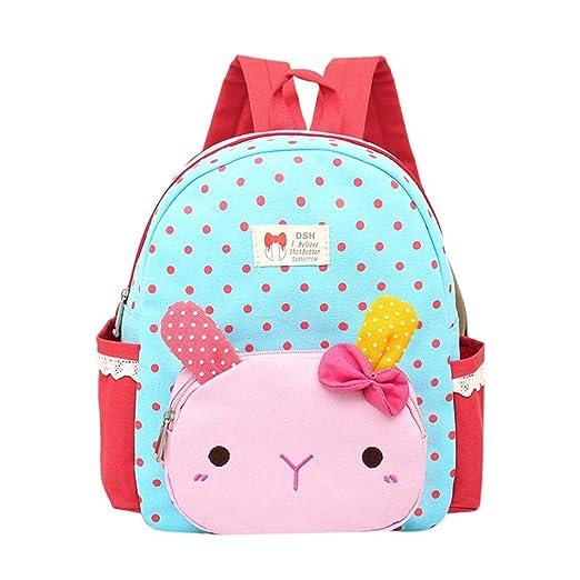 FDelinK Cute Rabbit Animal Kids Backpack Children Baby Girls Boys Cartoon  Schoolbag Toddler Bag (Blue e7c3ad3bd6b8d