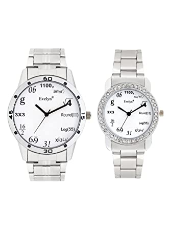 Analog Stainless Steel Watches for Lovely Couple -Eve-651-680