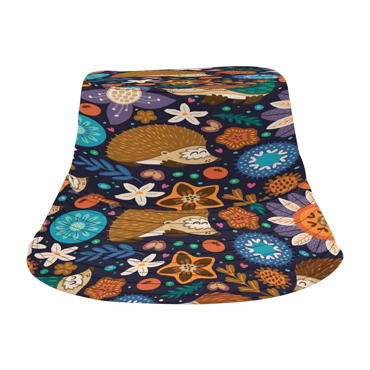 INTERESTPRINT Cartoon Hedgehogs Live in The Fantasy Forest Unisex Bucket Hats