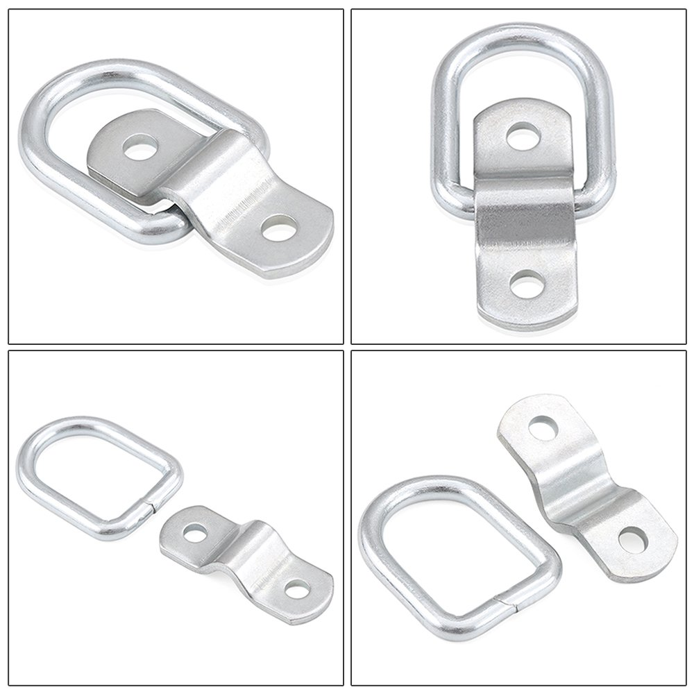 Combo pack of anti-corrosive Surface Mount Tie Down Ring,high tensile strength /& breaking strength for bolt-on application etopmia