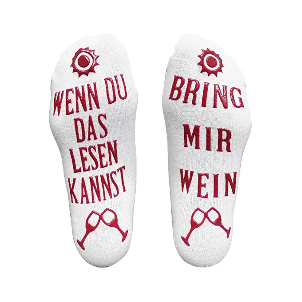 Oldeagle Gift Wine Socks''Wenn Du Das Lesen Kannst Bring Mir Wein'' C - Wine Lovers Gifts for Men Women