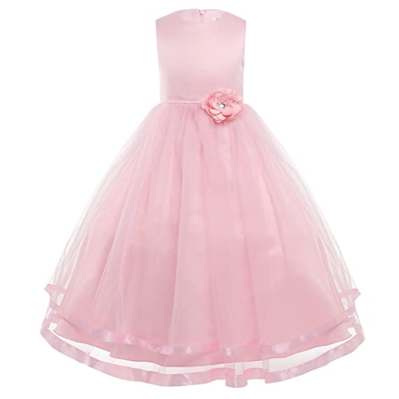 Amazon.com: MSemis Kids Flower Girls Sleeves Tutu Dress Bridesmaid Wedding Formal Event Pageant Ball Gown: Clothing