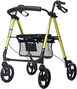 Amazon.com: ALUS Old Man Walker - Silla de ruedas plegable ...