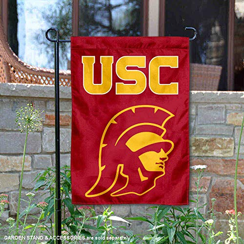 (College Flags and Banners Co. Southern Cal USC Trojans Trojan Head Garden Flag )