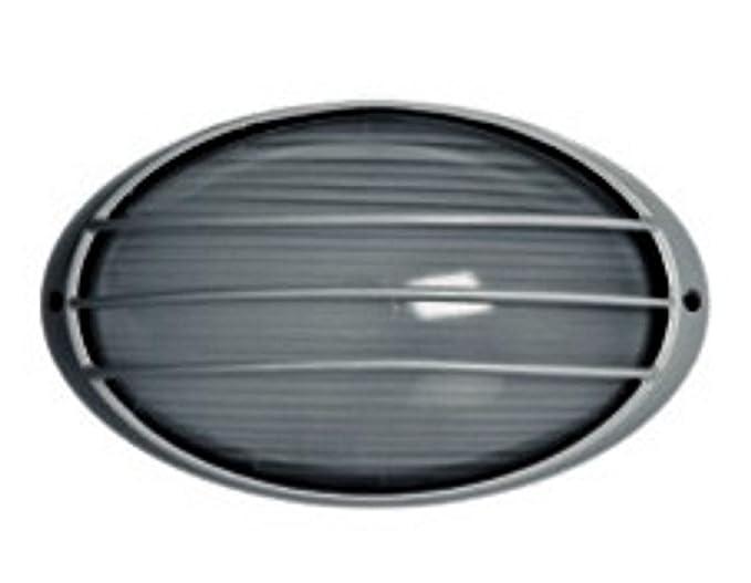 Plafoniere Da Esterno A Parete : Stone n lampada plafoniera led ovale con griglia