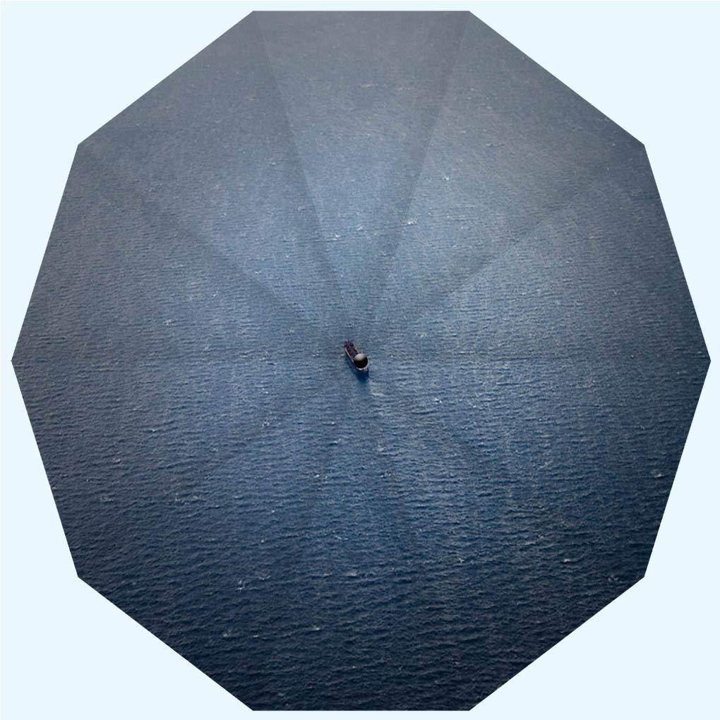 Fashion Travel Umbrella Sun Umbrella UV protection automatic opening and closing, Aerial side view of oil tanker ship on open sea, windproof - rainproof - men - ladies - versatile - 42 inches by BEIKIKI