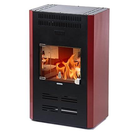 Divina Fire Stufa a bioetanolo ventilata bordeaux 3000W ...