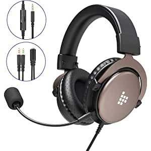 Tronsmart SONO Auriculares Gaming PS4 Estéreo con Micrófono Plegable para PC PSP Xbox One