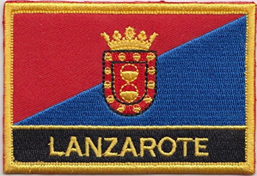 - Lanzarote Canary Islands Spain Flag Embroidered Rectangular Patch Badge
