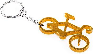 Práctico Llavero abrebotellas, Gadget Bicicleta Naranja metálico ...