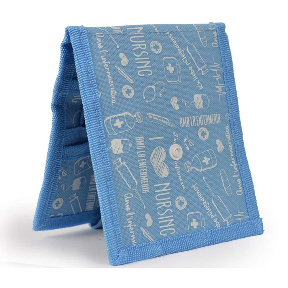 Organizador auxiliar de enfermería para bata o pijama | estampados en azul | Keens de Mobiclinic | Elite Bags