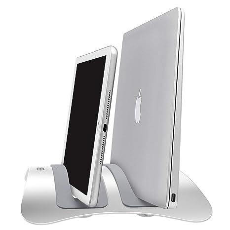 Urbo Twin-Seater Soporte Vertical de Laptop para Acomodar Computadoras Portátiles y Tabletas de Diferentes