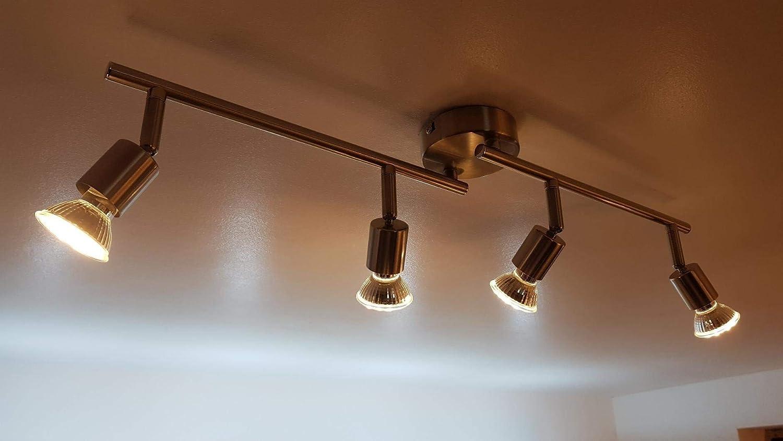 luz c/álida 40 /° /ángulo de haz LED MR16 GU5.3 no regulable 350 lm iluminaci/ón empotrable energ/ía Clase A ahorro de energ/ía bombillas 5 W 3000 K bombillas hal/ógenas equivalente Foco cristal luz