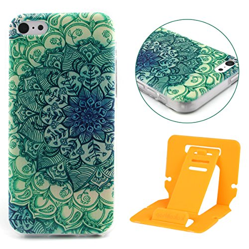 Fashion Coque pour Apple iphone 5c, Crystal Housse en Soft TPU Gel Silicone pour iphone 5c, iphone 5c Flexible Souple Cas Back Case Cover de Protection, Ultra Slim Créatif Dessin Couleur Motif de rétr