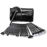 32 Set Pinceaux Maquillage Professionnel USpicy & Pochette de Voyage Haut de Gamme, Fibres Synthétiques Souples, Makeup Brushes Complet Soyeux et Facile pour Tous Types de Maquillage, Cadeau