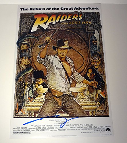 George Lucas Signed Autograph Indiana Jones Raiders Of The Lost Ark Movie Poster COA