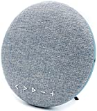 Silent Series - Portable, Long-Life Bluetooth Stereo Speaker with Subwoofer, Standing or Wall Hanging (Denim)