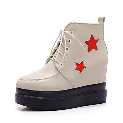 AdeeSu Womens Casual Round-Toe Comfort Wedges Slip-Resistant Urethane Boots SXC02114