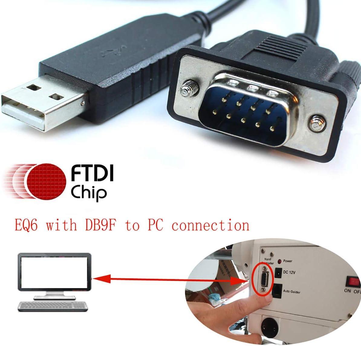 Skywatcher C/âble t/élescopique Goto Control EQMOD ASCOM pour c/âble s/érie FTDI HEQ5pro AZEQ5 AZEQ6 EQ6-R Asiair Synscan Goto sur PC ou Commande Manuelle 500cm//16ft C/âble PC vers Support Gris