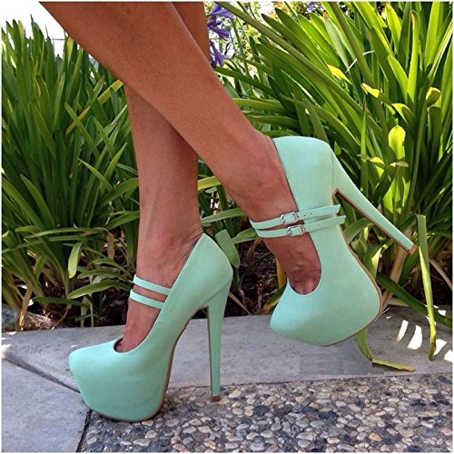 Heels Beige Blue Sandals Pumps 34 Sweet 14 High Double 45 VIVIOO Cashmere Leather Women Belt Prom Buckle 5 Cm Size Black 5 Sky Are Blue wI5xagq