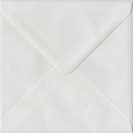 De color blanco verjurado S4 155 mm x 155 mm encolado color sobres para paquetes molde