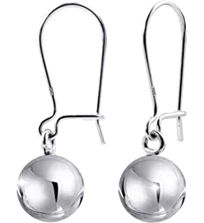 Comes with Free Silver Polish Cloth in Large Size ChicOpick Sterling Silver Round Ball Earrings in Three Models with Stud and Dangling Sterling Silver 925 Ball Size 10MM