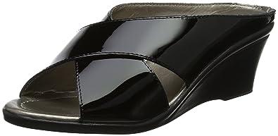 Lotus Damen Trino Offene Sandalen mit Keilabsatz, Schwarz (Black Patent/Snake Blk), 38 EU