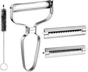 Hemoton 3-in-1 Peeler Set, Stainless Steel Peeler, Multi-function Vegetable and Fruit Peeler for Home and Kitchen use