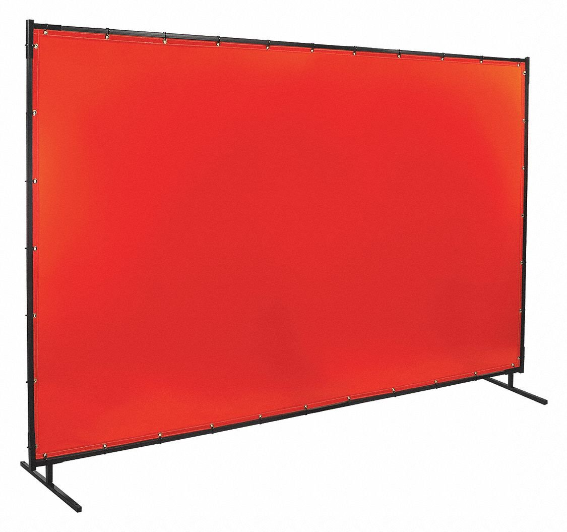 Steiner 538-6X10 Protect-O-Screen Classic Welding Screen with Flame Retardant 14 Mil Tinted Transparent Vinyl Curtain, Orange, 6' x 10'