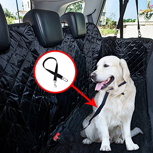 WH-SHOP Pet Car Seat Cover Protects Your Car Seats from Scratches, Shedding, Dirt & Wetness – Waterproof, Slip-Proof, Scratch-Proof, Durable, Washable, Installs Securely as Hammock in Car, Truck, SUV For Sale