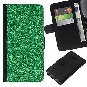 Patrón del brillo de la textura del granito- la tarjeta de Crédito Slots PU Funda de cuero Monedero caso cubierta de piel Para Samsung Galaxy Core Prime