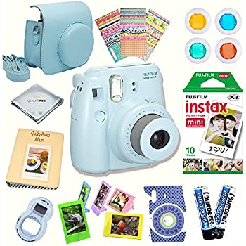 Amazon.com : Fujifilm Instax Mini 8 Camera BLUE + Accessory kit ...