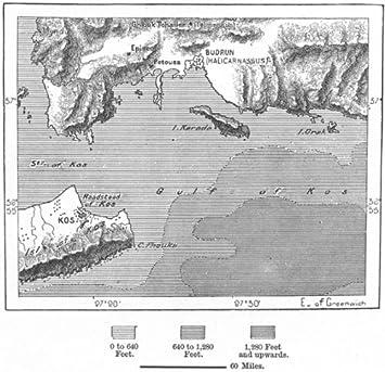 Grecia budrun e kos mappa c1885 amazon casa e cucina grecia budrun e kos mappa c1885 altavistaventures Image collections