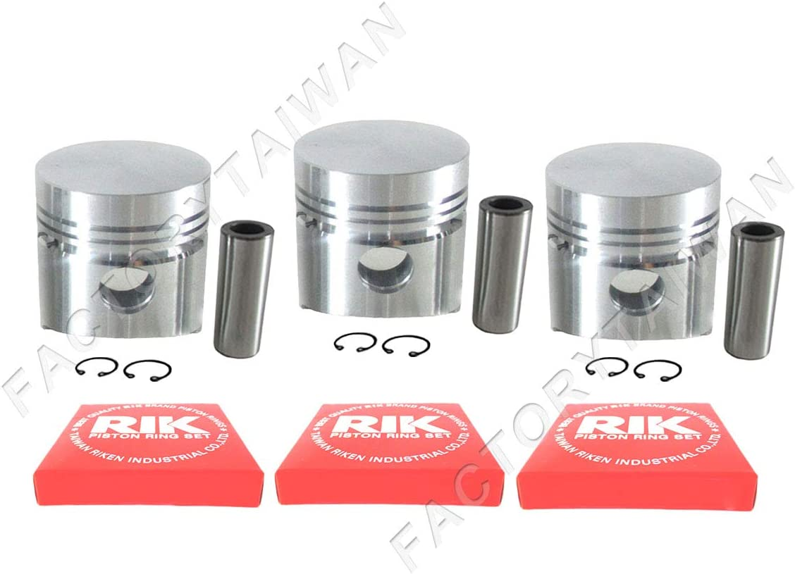 Piston 100/% Taiwan Made Ring Kit Set STD 76mm for Kubota D1102 X 3 PCS
