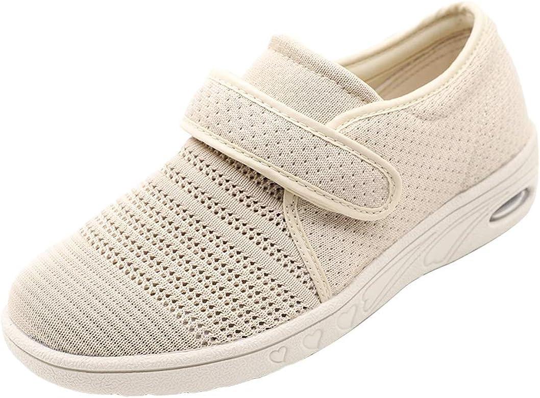 Mei MACLEOD Comfortable Women Walking Shoes Memory Foam Arch Support Lightweight Casual Sneakers for Diabetic Plantar Fasciitis