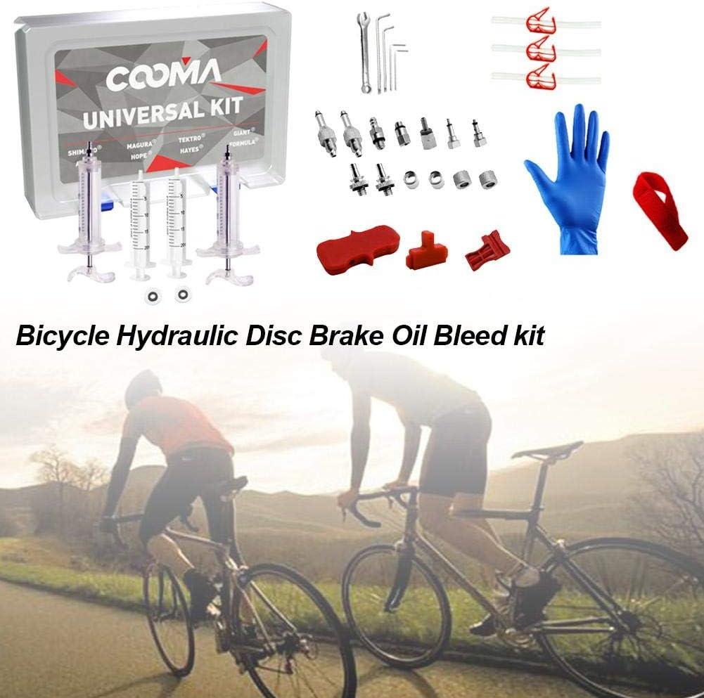 Sunnyushine Kit De Purga De Freno Aceite De Freno De Disco Hidr/áulico De Bicicleta Mineral para Shimano para MAGURA para TEKTRO Herramientas de reparaci/ón de Frenos para SRAM Series MTB